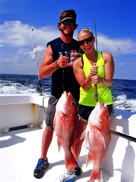 fishing trip sea deep fish beach orange hour charters intimidator alabama couple snapper lady go she normal much