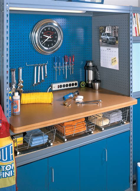 custom garage shelving woodworking project woodsmith plans