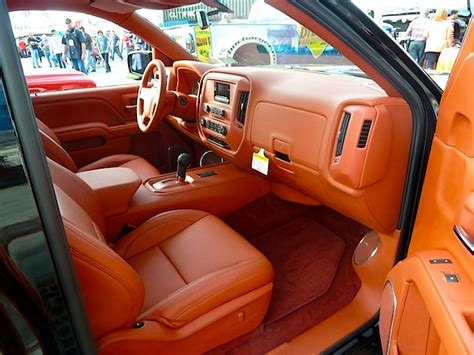 Car And Truck Upholstery best truck interiors at sema 2013 part 1 the hog ring