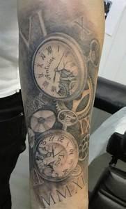 Tatouage Montre A Gousset Avant Bras : tatouage avant bras montre 3dliveproject ~ Carolinahurricanesstore.com Idées de Décoration