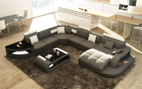 deco in paris 4 canape d angle design panoramique gris