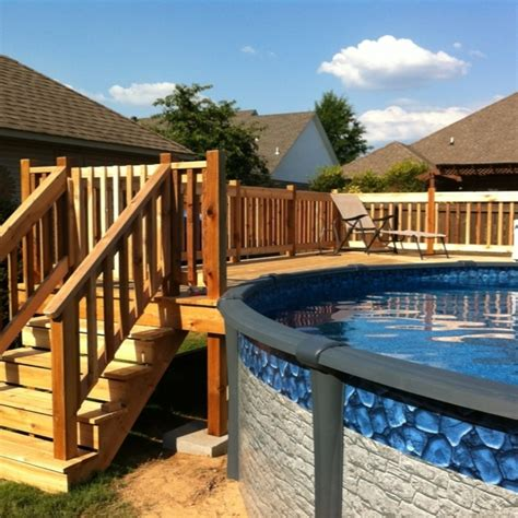 Above Ground Pool Steps Wood by 16 Stylish Outdoor Above The Ground Swimming Pools