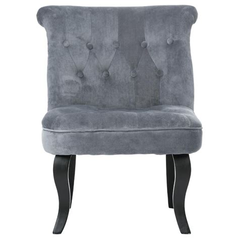 fauteuil crapaud quot calixte quot h 73cm velours gris