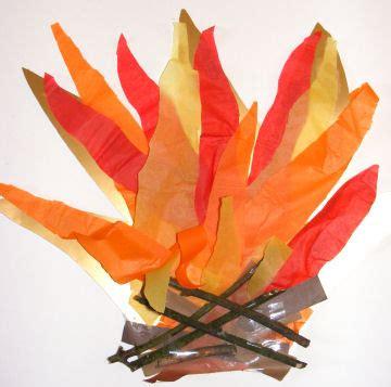 bonfire collage craft idea  kids