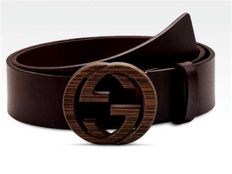 gucci belt  interlocking  buckle wood covered palladium hardware gucci fashion luxury
