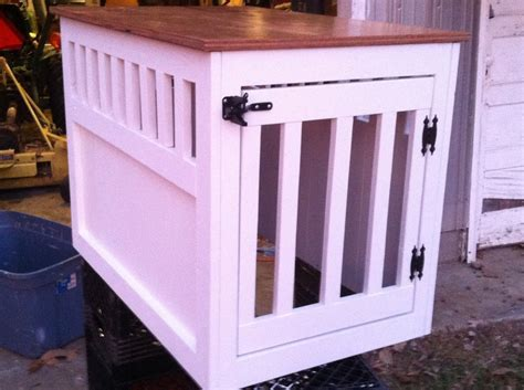 ana white large wooden dog crate  table diy projects