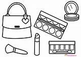 Coloring Makeup Printable Kosmetyki Torebce Glitter Vidalondon Popular Cosmetic Kolorowanka Coloringhome sketch template