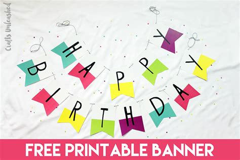 happy birthday banner print  printable pages
