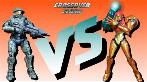 Samus Vs Master Chief Crossover Clash Youtube