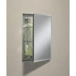 kohler k cb clr1620fs na silver aluminum 16 quot single door mirrored medicine cabinet with