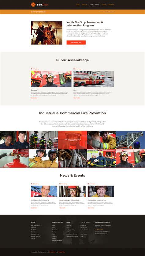 safety bureau department station and security wp theme by