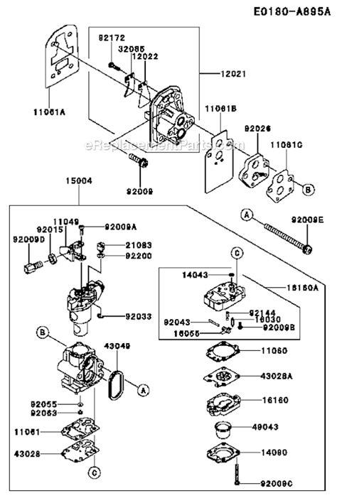 Kawasaki Trimmer Parts by Kawasaki Ktfr27a Parts List And Diagram