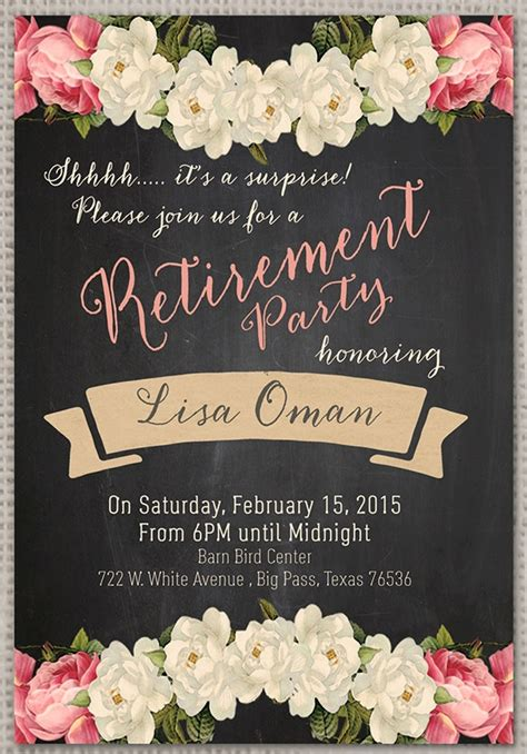 retirement party invitation  premium