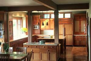 Lodge style Kitchen - Traditional - Kitchen - seattle - by