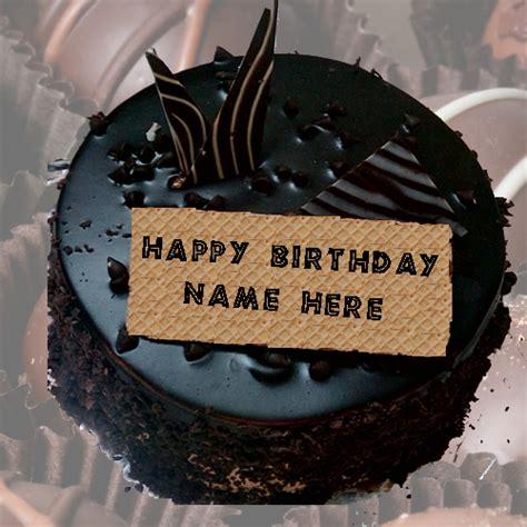 write   happy birthday chocolate cake