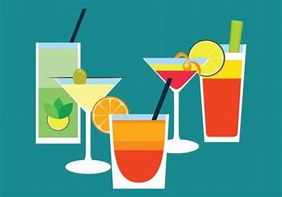 Cocktail Vector Drinks Flat Clipart Graphics Vecteezy