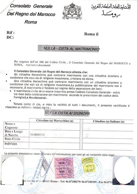 consolato marocco verona il matrimonio misto italia marocco procedura completa
