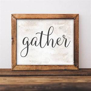 rustic printable gather quote rustic home decor