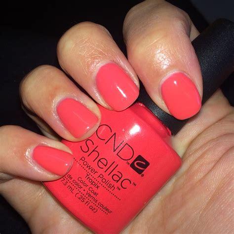 shellac nails colors nailsbyalexi cnd shellac quot tropix quot nails by me