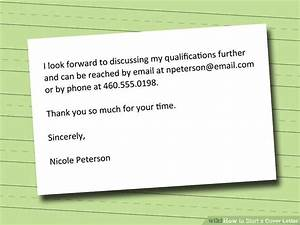 Wikihow Cover Letter 4 Ways To Start A Cover Letter Wikihow
