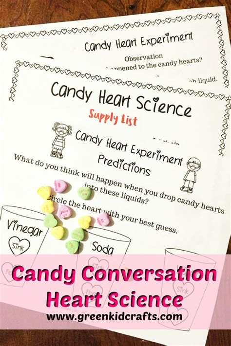 candy heart experiment   printable green kid crafts