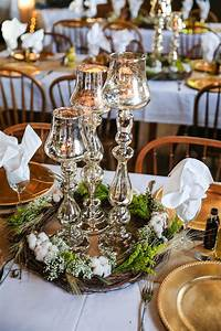 Rustic, Wreaths, And, Mercury, Glass, Centerpieces