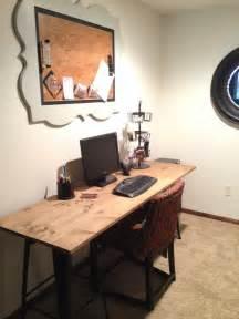 vintage industrial diy desk cork board