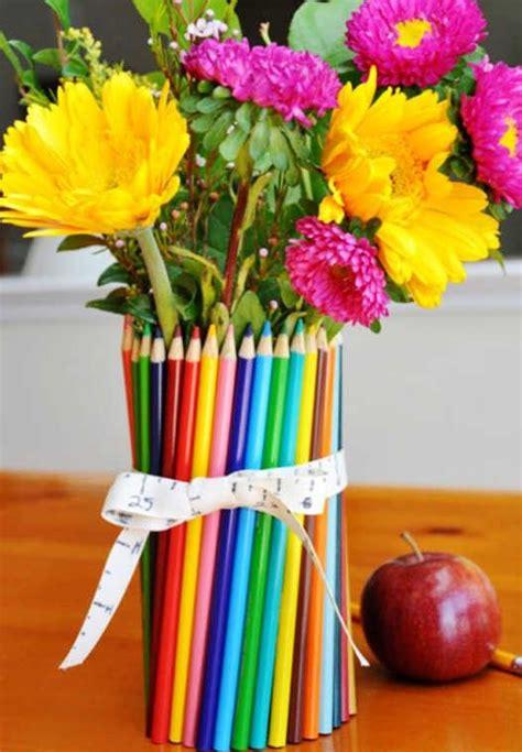 colored pencil vase diy colored pencil vase for back to school back to school