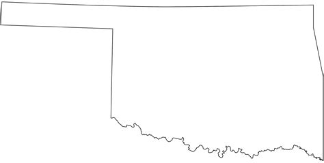 oklahoma map silhouette  vector silhouettes