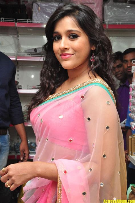 rashmi gautam stills in pink saree album