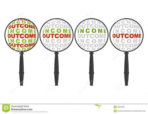 Income And Outcome In Magnifier Stock Vector  Image. Ms Word Invitation Templates Free Download Template. Resume For High School Students Templates. Proposal Message For Husband. Release Of Liability Waiver Template. Resume Cover Sheet Templates. Rent Slip Format Pdf Template. Text For Certificate Of Appreciation Template. Low Blood Sugar Levels Chart Template