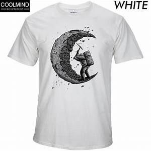 Cooles T Shirt : 100 cotton digging the moon print casual mens o neck t ~ A.2002-acura-tl-radio.info Haus und Dekorationen