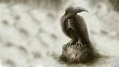 Raven Gothic Creepy Dark Bird Drawing Abstract