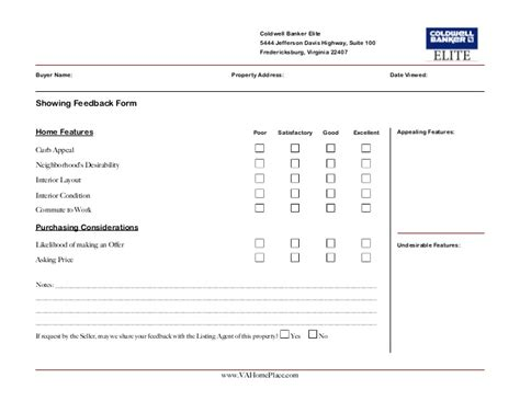 broker open house feedback form matthew rathbun showing feedback form