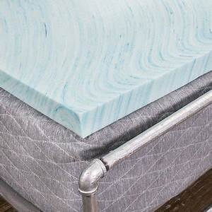 Dreamfoam 2quot gel swirl memory foam topper made in usa for Brooklyn bedding topper