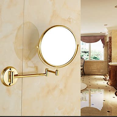 Brass Bathroom Mirror by Gold Plated Wall Mounted Brass Material Mirror Bathroom