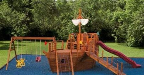 Backyard Pirate Ship Plans by Pirate Ship Playscape Places Pirate Ships