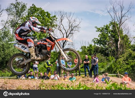 motocross in action extreme enduro motocross in action stock editorial photo