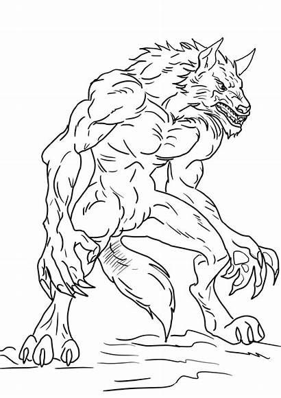 Werewolf Coloring