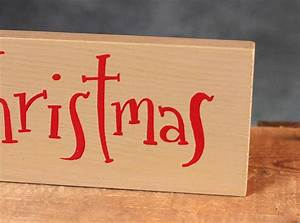 merry christmas hand lettered wooden sign by our backyard With hand lettered wooden signs