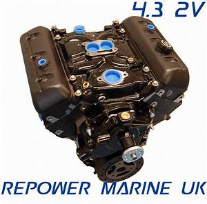 New 4 3l V6 Marine Engine  Repower Mercruiser  Volvo Penta