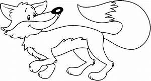 Arctic Fox clipart black and white - Pencil and in color ...
