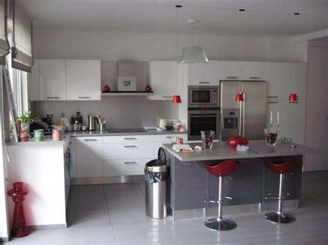 deco cuisine blanc et inspiration décoration cuisine gris et blanc