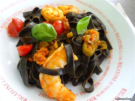 recette pates aux seiches le de clementine spaghetti 224 l encre de seiche aux langoustines de oliver