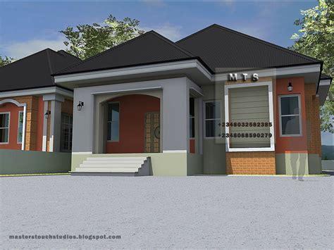bedroom twin bungalow modern  contemporary nigerian building designs