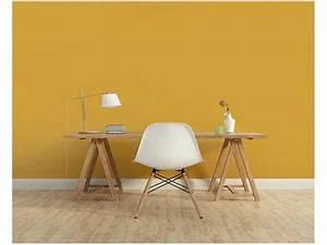 peinture 1825 moutarde sur les murs du coin bureau With carrelage gris couleur mur 3 peinture les couleurs tendance e6 vues par 1825
