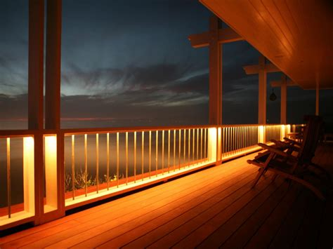 deck railing lights ideas deck lighting options hgtv