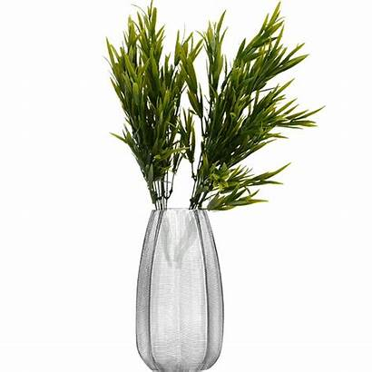 Grass Plastic Flowers Fake Decoration Fork Plants