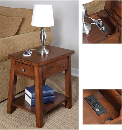 end tables with built in outlets device charging end table for those of us who don 39 t use qi