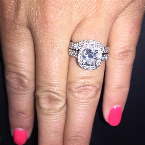 platinum engagement ring and band 1 20 ct cushion cut center diamond appraised for over